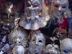 Italy Wenice carnival masks