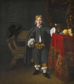 Ferdinand Bol DORDRECHT 1616 - 1680 AMSTERDAM PORTRAIT OF A BOY, SAID TO BE THE ARTIST'S SON, AGED 8.