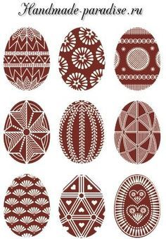 Pisanki - the decorated Easter eggs in Poland Here you'll find informations about Polish pisanki (decorated Easter eggs): Short history 8 types of Polish Easter eggs Patterns Gallery of Polish pisanki Egg Crafts, Easter Crafts, Diy And Crafts, Polish Easter, Easter Egg Pattern, Carved Eggs, Ukrainian Easter Eggs, Diy Ostern, Folk Art