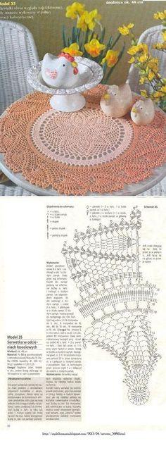 #_MELON Crochet Lace Round Doily