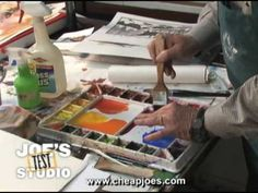 """Mixing Colors and Avoiding Mud in Watercolor"" Welcome to Cheap Joe's Test Studio! People tell me all the time that theyre really good at making mud in watercolor. Well Im going to show you how to prevent mud and Im also going to tell you a little bit about what causes watercolor mud... #ArtVideo #ArtInstruction #ArtLessons"