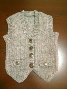 Knit vest models the Baby Knitting Patterns, Baby Sweater Knitting Pattern, Knitting For Kids, Knitting Designs, Baby Patterns, Hand Knitting, Baby Cardigan, Baby Boy Vest, Baby Pants