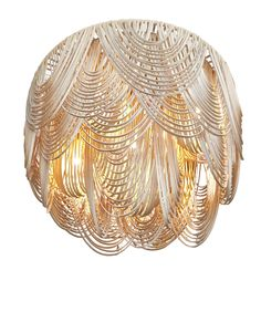 Whisper Leather Chandelier - Contemporary Organic Chandeliers - Dering Hall