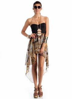 high-low baroque tube dress