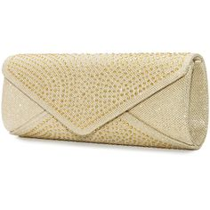 Mascara Gold Plus Size Embellished shimmering clutch ($56) ❤ liked on Polyvore featuring bags, handbags, clutches, bolsas, gold, plus size, brown hand bags, special occasion handbags, evening handbags and evening hand bags