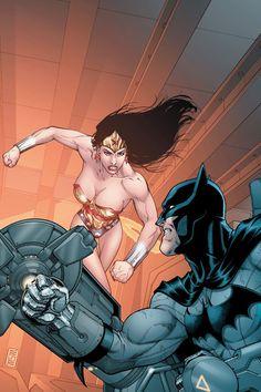Wonder Woman vs Batman by Mike S. Miller