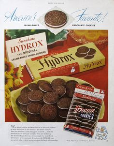 1948 Sunshine Hydrox Cookies Ad  English Style Sandwich