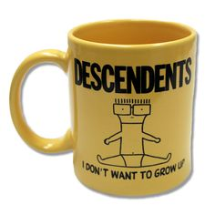 Descendents - I Don't Want To Grow Up Yellow Ceramic Mug - BRAND NEW - Official