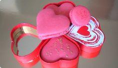 Macarons em formato de coração
