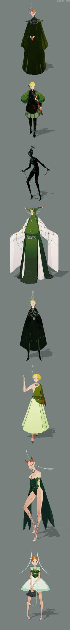 shanli by yao yao, via Behance: