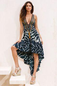 Batik zebra frill maxi dress from Boston Proper