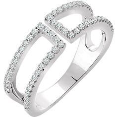 Gorgeous 14 Karat White Gold 1/3 CTW Diamond Negative Space Ring by Stuller, Inc.