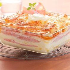Lasagnes légères au chèvre et au bacon