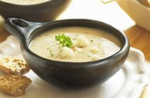 Creamy Cheesy Cauliflower Soup = Yum