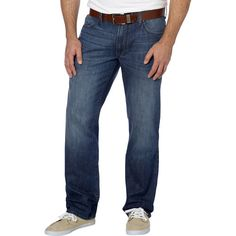 DKNY Jeans Men's Soho Straight Leg Jean-Medium Wash