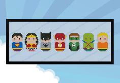 Justice League of America parody - Cross stitch PDF pattern