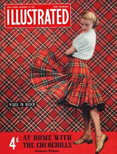 Plaid was omnipresent in this 1951 issue.