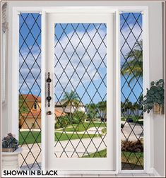 Orleans Leaded Glass See-Through - Shown with Black Lead Lines.  Six Lead Line Color Choices.