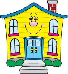 Free House Clip Art of Components of a house image for your personal projects, presentations or web designs. Art Drawings For Kids, Drawing For Kids, Painting For Kids, Art For Kids, Crafts For Kids, House Clipart, Cartoon House, Family Child Care, Carson Dellosa