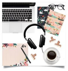 """""""Darling Desk"""" by brynhawbaker ❤ liked on Polyvore featuring interior, interiors, interior design, home, home decor, interior decorating, Rifle Paper Co, Vertu, Bobbi Brown Cosmetics and Urban Outfitters"""
