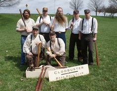 Vintage baseball players party like its 1869 photo