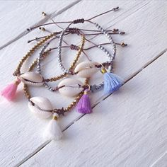 Summer collection seashell,tassels,gems