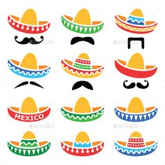 Colorful Mexican Sombrero Hat - Free Clip Art  8857bda560a