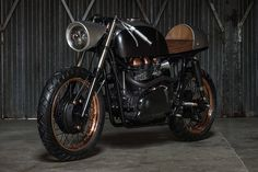 """""""Faster, faster, until the thrill of speed overcomes the fear of death."""" This Hunter S. Thompson quote served as inspiration for and appears on the stunning Death Machines Of London Up Yours Copper Motorcycle. Based on a 2007 Triumph Thruxton..."""