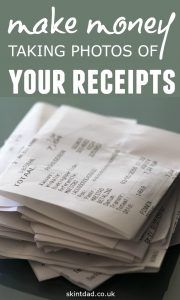 Every time you go shopping, you've given a little slip of paper with everything you bought – and you can use it to make some money with the Receipt Hog app!
