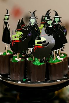 Halloween witch chocolate and candy treats by Jennifer Perkins