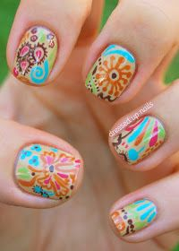 Nail art color is all the time important; it is only this nail art color that can give your nails the most appealing looking, if you will be having best and . Simple Nail Art Designs, Cute Nail Designs, Easy Nail Art, Cool Nail Art, Awesome Designs, Paisley Nail Art, Nail Art Flower, Floral Nail Art, Nail Deco