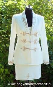 """Képtalálat a következőre: """"díszmagyar női ruha"""" Button Flowers, Coat Dress, Festival Outfits, Dress First, Dressmaking, Textiles, Blazer, Couture, Suits"""