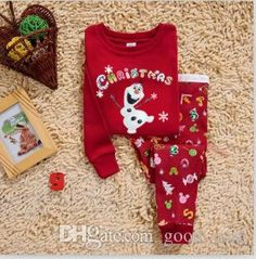 Kids Pajamas Frozen Christmas Olaf Snowman Pajamas Gift Children Boys Girls Kids Clothing Leisurewear Elsa Anna Pyjamas Childs Cartoon Sleepwear Best Boys Pajamas From Good_case, $52.05| Dhgate.Com
