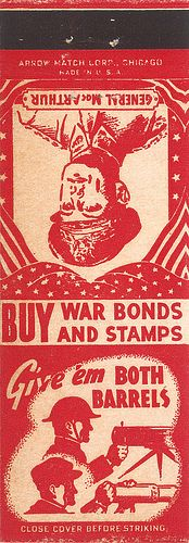 World War II matchbook