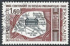 L'ancêtre du SMS rend toujours service - Edition du soir Ouest France - 22/02/2017  Timbre émis en 1966, pour célébrer les cent ans du réseau pneumatique parisien. (Illustration : GD/Collection privée)