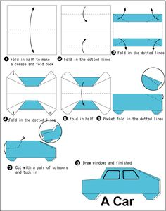 How to make an Origami car