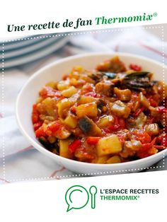 Homemade ratatouille by marinetritri. A fan recipe to find in the Vegetarian dishes category on www.espace-recett …, of Thermomix®. Ratatouille Recipe, Chili, Side Dishes, Food And Drink, Menu, Soup, Vegetarian, Crockpot, French Nails