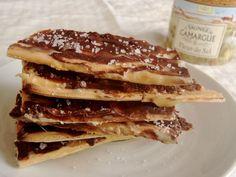 Salted Dulce de Leche Chocolate Matzo