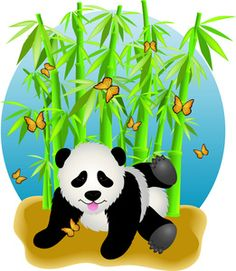 Baby Panda Clipart Image - Clip Art Illustration Of An Adorable ...