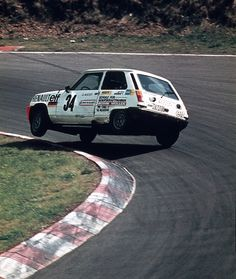 """The spectacular Renault R5 Cup in the 1970s. NOW you know WHY they call it a """"dog leg"""" to the left."""