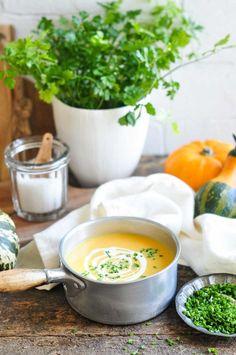 Roast Pumpkin Soup with Sweet Potato #pumpkinsoup #roastpumpkin #pumpkin #fall #sweetpotatosoup #sweetpotato