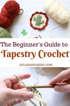 Beginner's Guide to Tapestry Crochet (Step By Step Photo & Video Tutorial) Have you been wanting to learn how to tapestry crochet, but are nervous to try it? Fear no longer! Crochet Geek, Crochet Chart, Learn To Crochet, Cute Crochet, Beautiful Crochet, Easy Crochet, Knit Crochet, Crochet Stitches, Tapestry Crochet Patterns