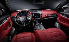 #MaseratiLevante Innenausstattung rot
