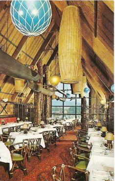 Tiki Style: Interior shot of Trader Vic's tiki-style restaurant located at the Bayshore Inn (built addition in Vancouver, BC from 1961 to Photograph Tiki Hut, Tiki Tiki, Tiki Lights, Tiki Hawaii, Tiki Bar Decor, Tiki Lounge, Vintage Tiki, Tiki Party, Tiki Room