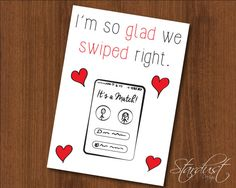 I'm so glad we swiped right 5x7 printable by StardustDesignShop
