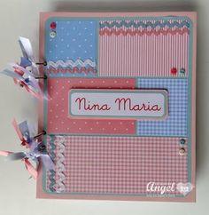 Diário / Álbum bebê #baby #girl #album #scrapbook