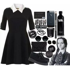 I would love to be Wednesday Addams for Halloween! Wednesday Addams Outfit, Wednesday Costume, Hallowen Costume, Halloween Outfits, Diy Costumes, Costume Ideas, Halloween Ideas, Fashion Idol, Fashion Outfits