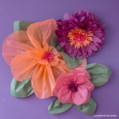 Follow our easy step-by-step tutorial to craft your own jumbo tissue paper flowers for nursery or event decor, designed by paper flower expert Lia Griffith