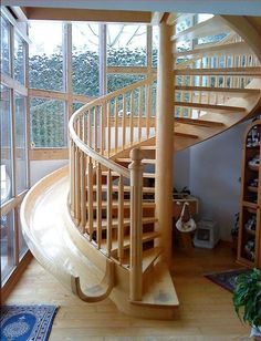 Beautiful Another Spiral Staircase/slide Combo. Tho I Like The Safety Of The Rodney  Miller One That Has Higher Sides To The Slide Itself.