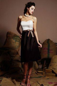 Amazing A-line natural waist satin dress